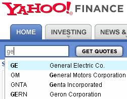 Yahoo Stock Quotes