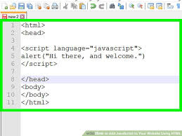 How to Add JavaScript to Your Website Using HTML (with Pictures)