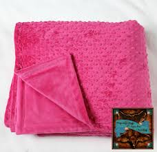 irresistibly soft  reversible  hot pink minky  cuddle fur throw