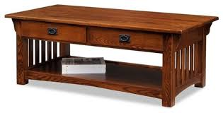 leick furniture mission coffee table in
