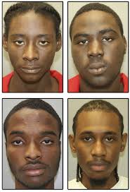 the four men arrested are clockwise from upper left warkim gabriel sha fredericks