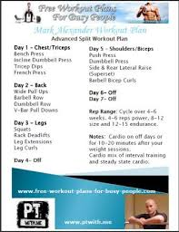 Bodybuilding Chart Free Download Printable Complete Bodybuilding Routine By Celeb Pt Mark