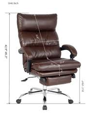 office recliner chair. Amazon.com: VIVA OFFICE Deluxe Bonded Leather Reclining Chair With Footrest, Brown: Kitchen \u0026 Dining Office Recliner E