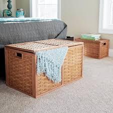 large wicker storage trunk. Fine Trunk Household Essentials Beige Trunk With Large Wicker Storage K