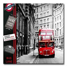 canvas print wall art painting london street scene red london bus england city uk british vintage on amazon uk black and white wall art with amazon canvas print wall art painting london street scene red