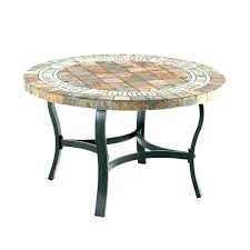 stone top patio table outdoor dining mosaic faux round furniture out