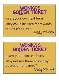 Golden Ticket Invitation Template Golden Ticket Wedding Invitations ...