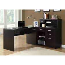 urban accents furniture. CAPPUCCINO HOLLOW-CORE L SHAPED HOME OFFICE DESK Urban Accents Furniture A