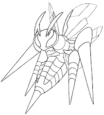 Small Picture Coloring page Mega Evolved Pokemon Mega Beedrill 15 15