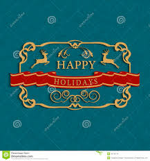 merry christmas and happy holidays text. Plain And Happy Holidays Text Greeting Card In Merry Christmas And Holidays Text A