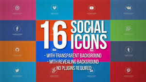 Animated Social Media Icons Motion Graphics Templates