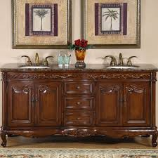 bathroom cabinets double sink. Amazon.com: Silkroad Exclusive Baltic Brown Granite Top Double Sink Bathroom Vanity With Cabinet, 72-Inch: Home \u0026 Kitchen Cabinets D