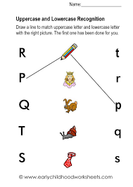 Matching Letters and Pictures Worksheets For Kindergarten
