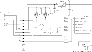 blink Led Emergency Flasher Wiring Schematic the circuit is built inside a strip of u shaped aluminum, which is located in an unused space directly under the emergency flasher 2 Pin LED Flasher Relay