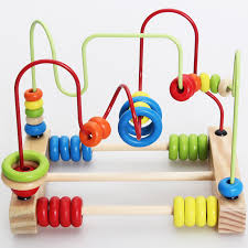 Wooden Bead Game New Learning Wooden Round Moving Beads Toy Developmental Game Toy 67