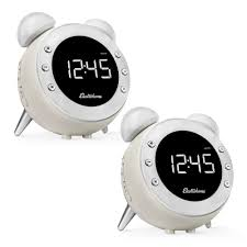 electrohome retro alarm clock radio with motion activated night light and snooze digital am