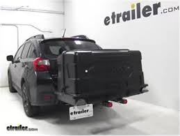 of geardeck 17 enclosed cargo carrier for 2 hitches slide out 17 cu ft 300 lbs black