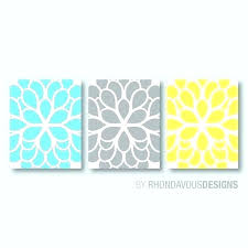 yellow and gray wall art teal and gray wall art teal blue and gray bedroom teal