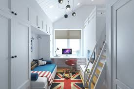 Small Picture Small Teenage Room Design with a Second Floor Sleeping Quarters