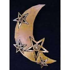 metal moon wall art moon wall art beautiful moon and stars metal wall art rust finish metal moon wall art