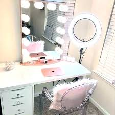 desk mirror with lights. Beautiful With Makeup Dressing Table Mirror Lights Desk Light With Regarding Inspirations  Vanity Wall Regardi  And  And Desk Mirror With Lights T