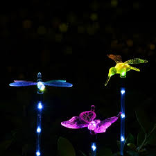 3pcs solar multi color erfly