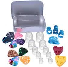 enhuton 26 <b>Pcs Silicone</b> Fingertip Protectors Celluloid Thumb ...