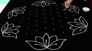 Telugu Muggulu Designs With Dots Simple Rangoli Designs With 11x6 Dots Kamala Puvvu Muggulu