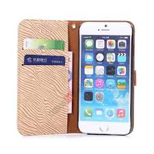 for apple iphone 6 plus 5 5 inch leather case book zebra pattern leather wallet