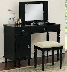 black vanity table black makeup vanity table with flip mirror