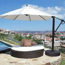 easy tilt ft offset umbrella with wheeled base 11 foot patio solar lights