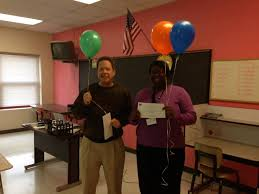 Granville Education Foundation - GEF Treasurer, Mark Harrison, presenting  Northern Granville Middle School teacher, Lekeisha Horton, with the Lela  Eaton Creative Teaching Grant and the Success Through Technology Grant |  Facebook