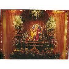 flower decoration ganpati flower decoration manufacturer from mumbai