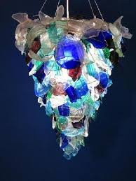 stunning sea glass chandelier