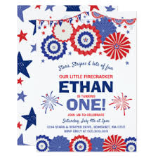 July 4th Birthday Invitation Fourth Of July Party