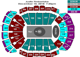 Sprint Center Seating Chart With Rows And Seat Numbers Justin Timberlake Sprint Center