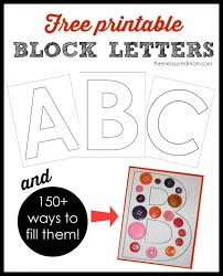 Large Block Letters Template Simple Printable Block Letters And Over 28 Ways To Fill Them The