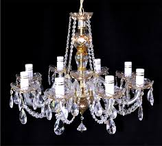 maria theresa crystal chandelier brass strass chandeliers glass and crystal chandeliers
