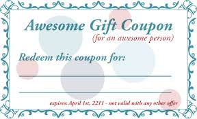 Coupon Format Template Coupon Template Word Cyberuse