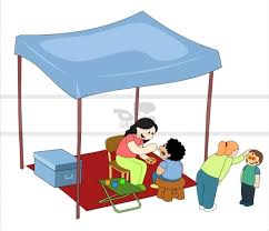 clip art face painting booth clipart 1