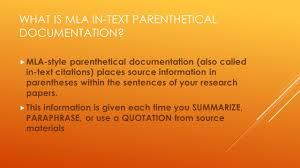 Mla Format Ppt Video Online Download