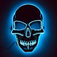 Light Up Skull Mask Glowcity Light Up El Wire Skull Mask