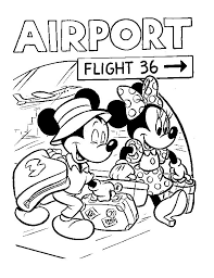 Mickey Mouse And Friends Cruise Disney Ship Coloring Pages Print