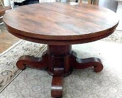 antique round dining table vintage room tables decorations with leaves and chai