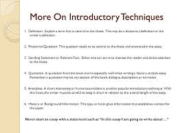 expository essay sophomore essay ppt video online  more on introductory techniques