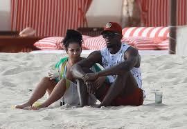 photos usain bolt friend kasi bennett enjoy romantic break on the beach in mexico