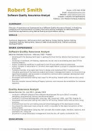 Common duties listed on a quality control technician resume example are running tests analyzing products assigning tasks. Quality Assurance Resume Examples Software Analyst Sample For Hudsonradc