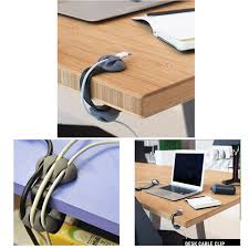 desk cable clips organizer management multipurpose wire holder usb chargers storage holders racks