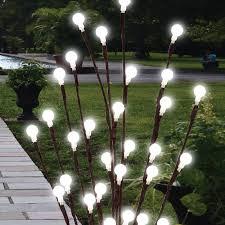 sentinel 2 x 60cm garden led twig lights solar tree lights decor lighting outdoor lamp