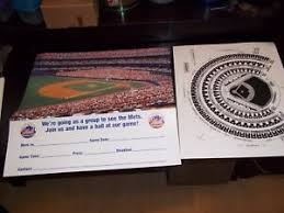 Details About Vntg New New York Mets Ny Mets Group Ball Game Trip Poster Sign W Seating Chart